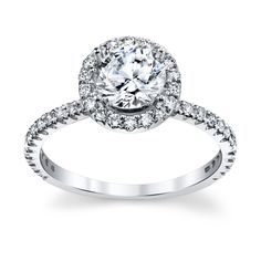Forevermark 18K White Gold Engagement Ring Setting