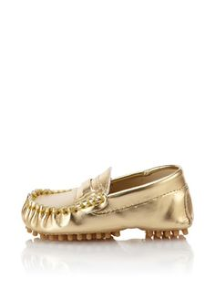 2ca316ac8793 Trumpette gold metallic moccasin with a super grippy sole · Baby ShoesGirls  ...