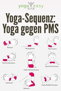 Yoga exercises against the symptoms of PMS- Yoga vs. PMS: These yoga exercises help against pain and mood swings before the period - Iyengar Yoga, Ashtanga Yoga, Hormon Yoga, Yoga Meditation, Pms, Yoga Routine, Exercise Routines, Exercise Motivation, Yoga Inspiration