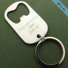 Personalized Bottle Opener Keychain for Men