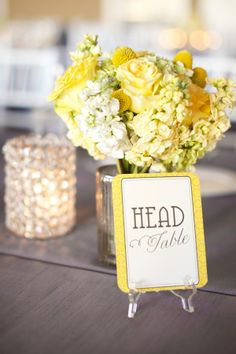 Yellow and gray honey bee-inspired wedding