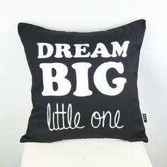 "18"" * 18 "" almofadas decorativas Decorative Ikea Throw Pillow Cover Dream Big Little One Cushion Cover Pillowcase for Sofa"