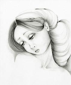 Pencil Drawing Illustration Fine Art Giclee by ABitofWhimsyArt, $30.00