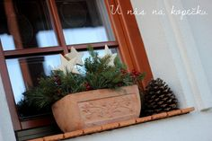 U nás na kopečku: Vkrádá se polehoučku ... Windows, Deco, Plants, Christmas, Blog, Winter, Xmas, Window, Decoration