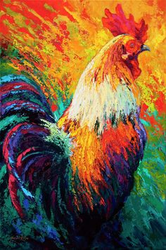 Shop for rooster art from the world's greatest living artists. All rooster artwork ships within 48 hours and includes a money-back guarantee. Choose your favorite rooster designs and purchase them as wall art, home decor, phone cases, tote bags, and more! Rooster Painting, Rooster Art, Chicken Painting, Chicken Art, Chicken Animal, Painting Prints, Art Prints, Framed Prints, Canvas Prints