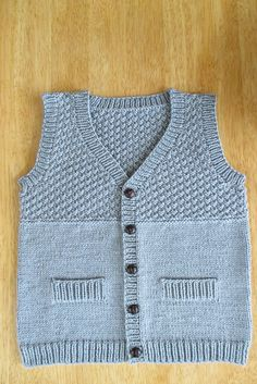 ravelry project gallery for 8 junior pattern by drops design - PIPicStats Baby Knitting Patterns, Baby Boy Knitting, Knitting For Kids, Baby Patterns, Knitted Baby Cardigan, Baby Pullover, Knit Vest, Baby Boy Vest, Drops Design