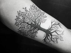 Body Tattoos, Life Tattoos, Tattoos For Guys, Tattoos For Women, Olive Tree Tattoos, Tree Tattoo Men, Swing Tattoo, Forest Tattoos, Real Tattoo