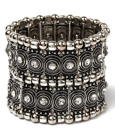 Another great find on #zulily! Amrita Singh Austrian Crystal & Silvertone Calypso Stretch Bracelet by Amrita Singh #zulilyfinds