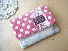 ハンドメイド ポケットティッシュケース YUWA ドット100円 Handmade purse ¥100yen 〆04月15日