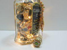 Lighted Glass Bottle  Liquor Bottle Lamp  by AuroraBottleLights