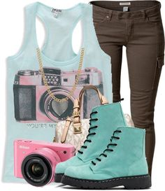 To complete: turquoise boots <3