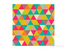 Abstract Geometric Triangle Seamless Pattern Prints by Heizel - at AllPosters.com.au