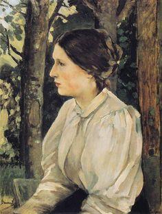 Portrait of Tatyana Vasnetsova, the Artist`s Daughter by Viktor Vasnetsov, 1897