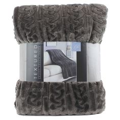 NEW Life Comfort WARM Ultra Soft Textured Velvet Touch Throw Oversize  Blanket