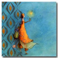 CARTES D'ART > BOISSONNARD Gaëlle > CARTES SIMPLES 14x14cm > BOISSONNARD Carte 224 - e-mages - La carterie d art