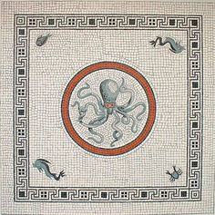 "Sealife Mosaic from ""the House of the Dancing Faun"" in Pompeii Voir la traduction"