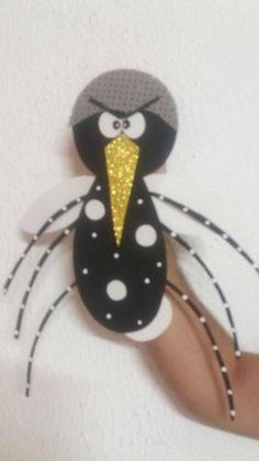 Ensinando com Carinho: Fantoche do mosquito da dengue com molde Mosquitos Da Dengue, Dengue Fever, Camping Theme, Hand Puppets, Diy And Crafts, Activities, Education, Theme Ideas, Taurus