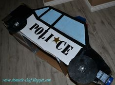 cardboard box cop car | Chief Domestic Officer: Cardboard box Police Car
