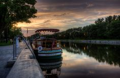 Packet Boat at Sunset on the Erie Canal