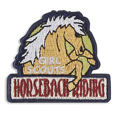 HORSEBACK RIDING IRON-ON PATCH $2.50