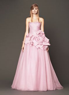 The Vera Wang pink collection is over the top gorgeousness. See the entire collection here http://www.weddingchicks.com/2013/11/12/vera-wang-pink-wedding-gowns/