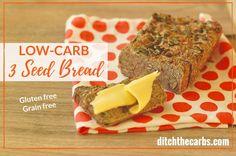 THIS IS IT!!! The famous low-carb 3 seed bread that kiwis and Aussies are raving about. Perfect with melted butter and vegemite or marmite.