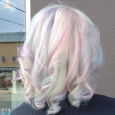 Easter Candy!  Hair by the Mermaidian of March: @rossmichaelssalon A pastel dream come true!   #Mermaidians  by mermaidians