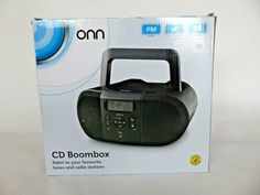 Onn CD Boombox Portable Stereo - BLACK Portable Music System (see description) Music System, Portable Battery, Boombox, Ebay, Musica