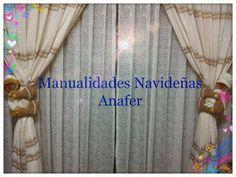 Manualidades Anafer: Cortineros Navideños Curtains, Home Decor, Christmas Deco, Christmas Chair, Baby Pillows, Leather Totes, Christmas Crafts, Holiday Ornaments, Punto Cruz