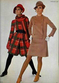 1967 style. Suits  Jeanne Lanvin and  Gres