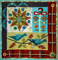wool applique quilt tips from Sue Spargo