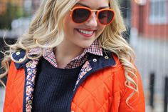 A Gap checkered shirt as featured on the blog @bows & sequins.