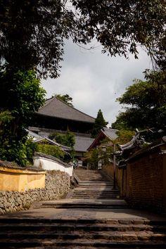 Steps leading into Nigatsudo Hall.