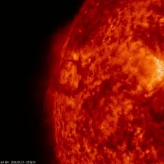 """spaceplasma:"""" Circular Solar Outburst A round solar prominence burst from the sun on March shortly after it rotated into the view of NASA's Solar Dynamics Observatory, or SDO. Much of the solar material did not escape the sun's. Space Planets, Space And Astronomy, Sun Gif, Nasa Sun, Sun Solar, Solar Power, Galaxy Photos, Dwarf Planet, Nasa Missions"""