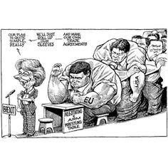 Theresa and Trade.  KAL's cartoon this week #TheEconomist #KALcartoon #KAL