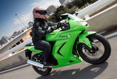 in either black or orange or both i don't know but this will be mine ...  Kawasaki Ninja 250R