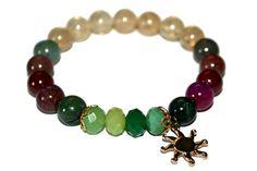 Citrine & Tourmaline Gift, Sun Bracelet, Women Jewelry, Girlfriend Bracelet, Gift for Her, Tourmaline Jewelry, Citrine Gift, Sun Jewelry
