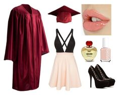 Graduation day! by zaida-valadez-1 on Polyvore featuring polyvore, fashion, style, Club L, Moschino and Essie