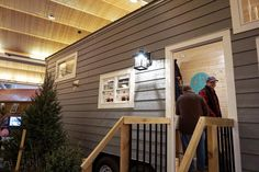 """""""The Getaway"""" by Glenmark Construction Inc. Every tiny house they build is custom built. They were very nice and friendly helpful answering questions. More interior pictures the come. : @lovemypittie  #searchingforcasaworthy #tinyliving #tinyhouse #THOW #tinyhappyhomes #tinyhomes #tinyhousemovement #tinyhouseonwheels #expo #homeandgardenshow by casa.worthy"""