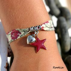 Bracelet liberty coeur & étoile simple to make