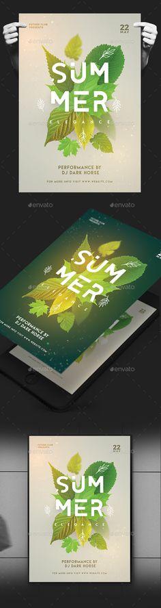 Elegant Summer Flyer — Photoshop PSD #poster #bar • Download ➝ https://graphicriver.net/item/elegant-summer-flyer/19804051?ref=pxcr