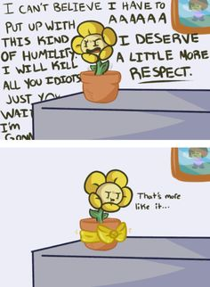 See more 'Undertale' images on Know Your Meme! Undertale Comic, Flowey Undertale, Undertale Fanart, Funny Undertale, Tv Head, Toby Fox, I Deserve, Tsundere, Know Your Meme