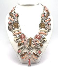 Tribal Nude Statement Necklace by DolorisPetunia on Etsy, $405.00