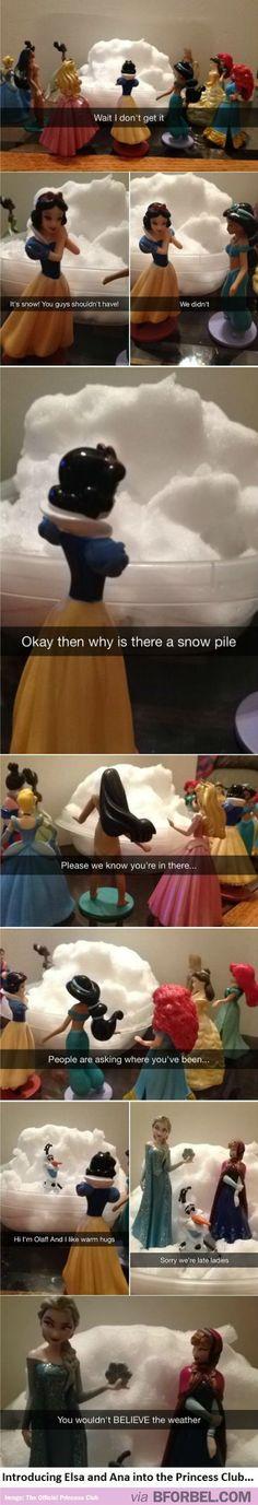 Disney Princesses Introducing Elsa And Anna Into The Princess Club!