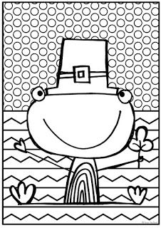 FREE Frog Coloring Page - Perfect for St. Patrick's Day | #FromThePond #TpT #StPatricksDay #StPaddysDay #FrogColorPage #Freebie #TeacherFreebie #FreePrintable