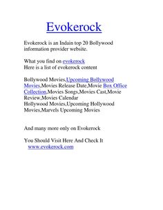 Evokerock  Info in Just a Click-Bollywood,Movies,Upcoming Movies,Movies Review,Latest Movies,box office collection,upcoming hollywood movies,marvel movies