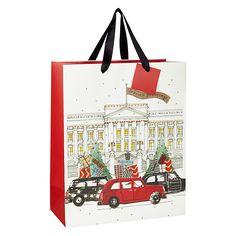 Buy John Lewis Festive London Gift Bag, Medium Online at johnlewis.com