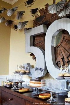 birthday party themes for men decoration ideas decorations r sur 50th Birthday Wishes, 50th Birthday Party Decorations, Moms 50th Birthday, 70th Birthday Parties, Adult Birthday Party, 50th Party, Diy Party Decorations, Birthday Celebration, Birthday Ideas