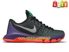 Nike KD 8/VIII Chaussure de Nike Basket-ball Pas Cher Pour Homme Noir/Pourpre/Rouge 749375-013