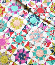 Shimmer Quilt Close up, Cluck Cluck Sew